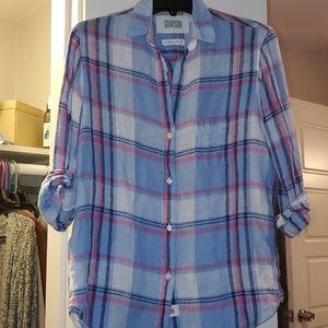 Grayson The Hero Linen Plaid Shirt